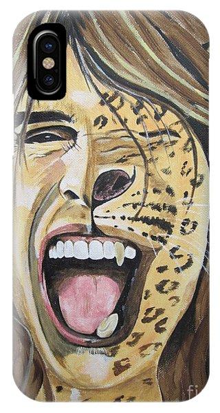 Steven Tyler As A Wild Cat IPhone Case