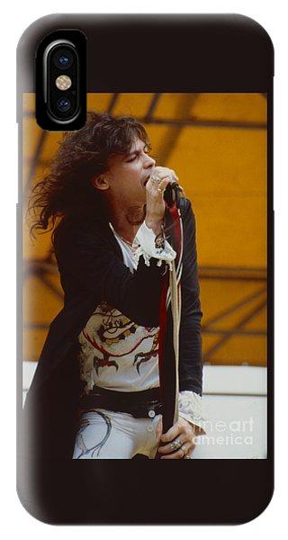 Steven Tyler iPhone Case - Steven Tyler Of Aerosmith At Monsters Of Rock In Oakland Ca by Daniel Larsen