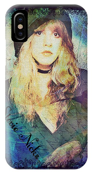 Airy iPhone Case - Stevie Nicks - Beret by Absinthe Art By Michelle LeAnn Scott