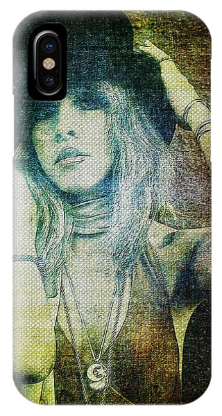 Rock And Roll Art iPhone Case - Stevie Nicks - Bohemian by Absinthe Art By Michelle LeAnn Scott