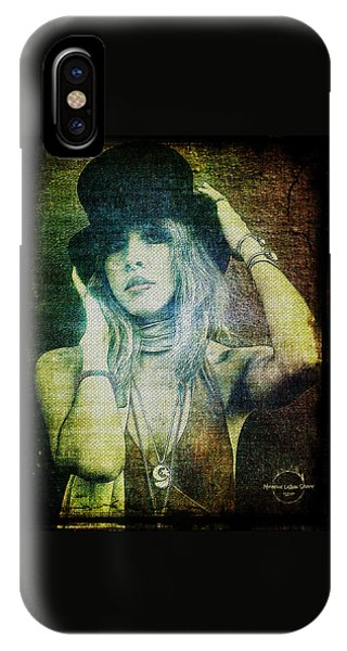 Rock And Roll iPhone Case - Stevie Nicks - Bohemian by Absinthe Art By Michelle LeAnn Scott