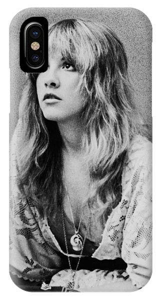 White iPhone Case - Stevie Nicks by Georgia Fowler
