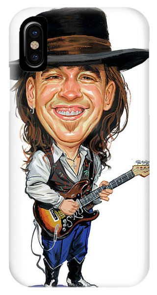 Musical iPhone Case - Stevie Ray Vaughan by Art