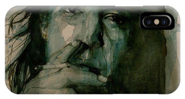 Singer iPhone Case - Stevie Ray Vaughan by Paul Lovering