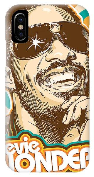 Rhythm And Blues iPhone X / XS Case - Stevie Wonder Pop Art by Jim Zahniser