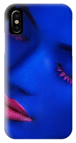 Faces iPhone Case - Still Got The Blues by James Mahfuz