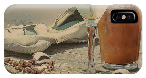 Bloody Mary iPhone Case - Still Life - Beach With Curves by Jeff Burgess