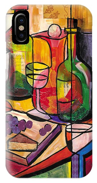 Still Life Of Fruit Wine And Cheese IPhone Case