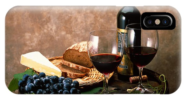 Still Life Of Wine Bottle, Wine IPhone Case
