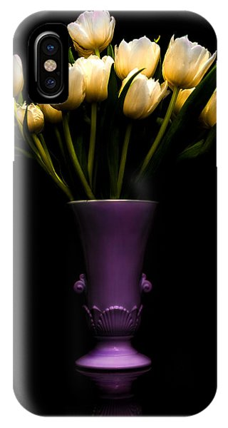 White Tulip iPhone Case - Still Life - White Tulips by Jon Woodhams