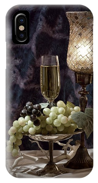 Glasses iPhone Case - Still Life Wine With Grapes by Tom Mc Nemar