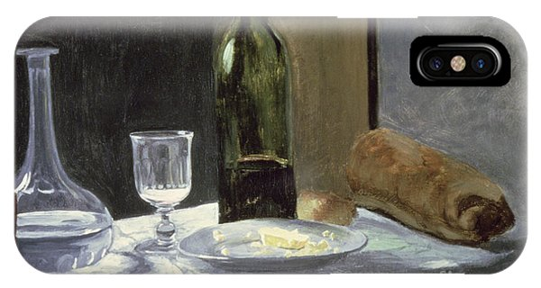 French Impressionism iPhone Case - Still Life With Bottles by Claude Monet