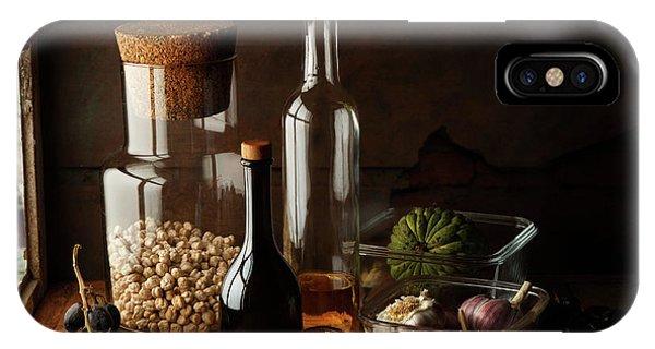 Fruit iPhone Case - Still Life With Chickpea by Luiz Laercio