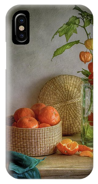 Still Life With Clementines Phone Case by Mandy Disher