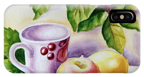 Still Life With Cup And Fruits IPhone Case