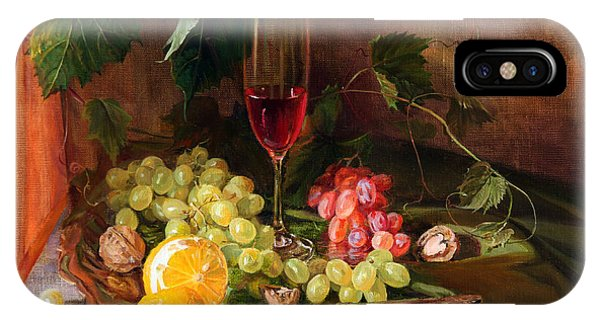 Still Life With Grapes And Grapevine IPhone Case