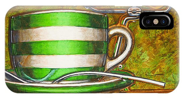 Still Life With Green Stripes And Saddle  IPhone Case