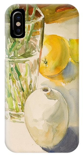 Still Life With Lemon And Vase Phone Case by Pablo Rivera