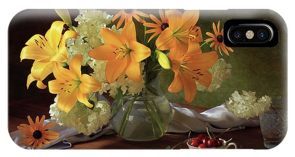 Bouquet iPhone Case - Still Life With Lilies by ??????????? ??????????