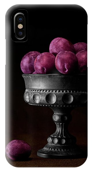 Fruit iPhone Case - Still Life With Plums by Tom Mc Nemar