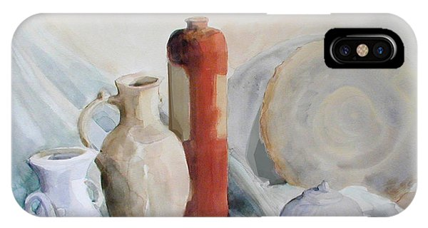 Watercolor Still Life With Pottery And Stone IPhone Case