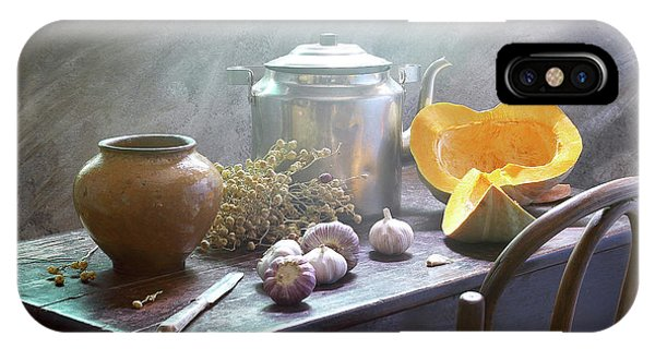 Kettles iPhone Case - Still Life With Pumpkin by Ustinagreen