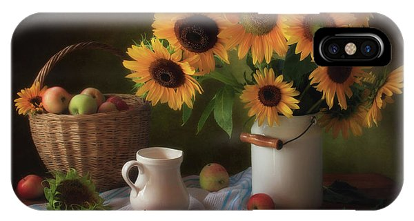 Bouquet iPhone Case - Still Life With Sunflowers by ??????? ????????