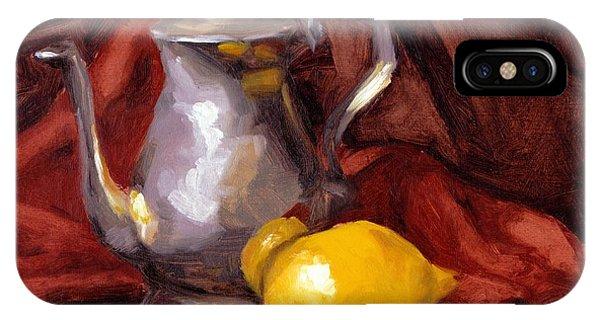 Allison iPhone Case - Still Life With Tea Pot by Alison Schmidt Carson