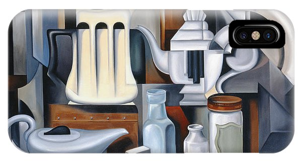 Perfume Bottles iPhone Case - Still Life With Teapots by Catherine Abel