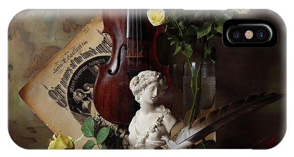 Still Life With Violin And Bust Phone Case by Andrey Morozov