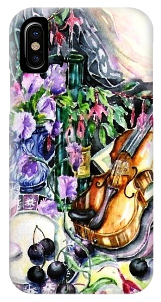 Still Life With Violin And Cherries Phone Case by Trudi Doyle