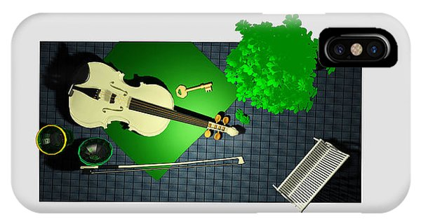 Park Bench iPhone Case - Still Life With Violin And Park Bench by Andrei SKY