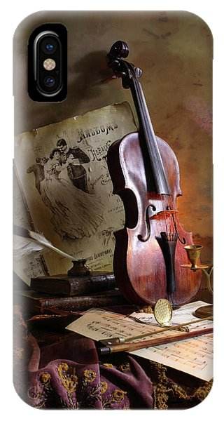 Old iPhone Case - Still Life With Violin by Andrey Morozov