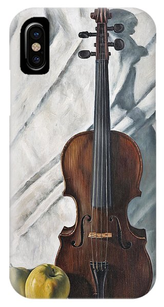 Violin iPhone X / XS Case - Still Life With Violin by John Lautermilch