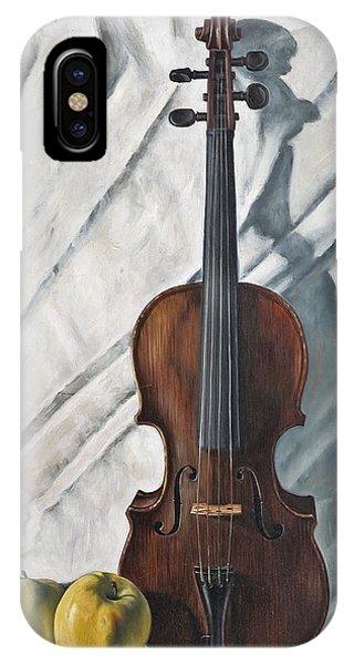 Violin iPhone X Case - Still Life With Violin by John Lautermilch