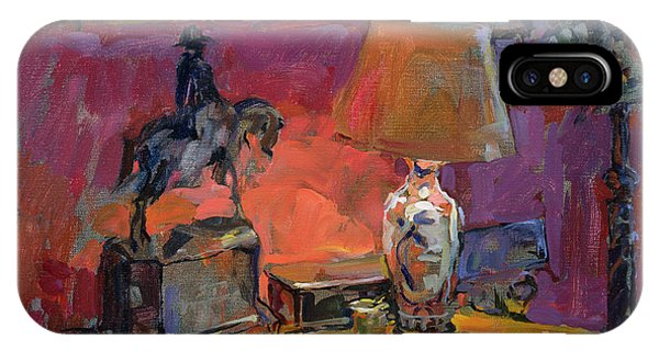 Horseman iPhone Case - Still Life With Wellington, 1998 Oil On Canvas by Susan Ryder