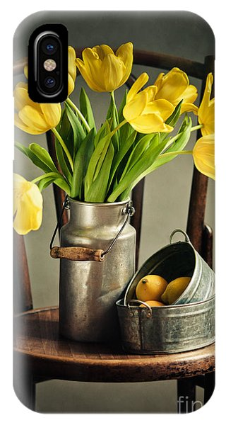 Lime iPhone Case - Still Life With Yellow Tulips by Nailia Schwarz
