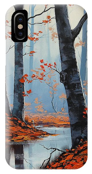 Amber iPhone Case - Still Woodland by Graham Gercken