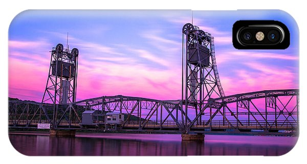 Sunset iPhone Case - Stillwater Lift Bridge by Adam Mateo Fierro