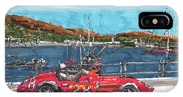 iPhone Case - Stirling Moss Maserati Grand Prix Of Monaco by Paul Guyer
