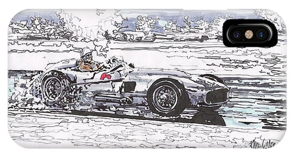 iPhone Case - Stirling Moss Mercedes Benz Grand Prix Of Argentina by Paul Guyer