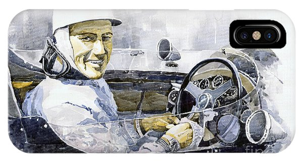 Portret iPhone Case - Stirling Moss by Yuriy Shevchuk