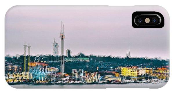 Funfair iPhone Case - Stockholm Double Exposure by Stelios Kleanthous