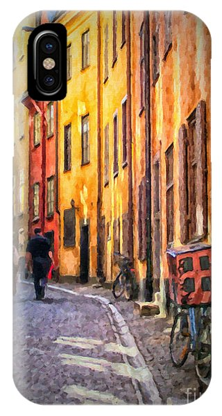 Stockholm Gamla Stan Painting IPhone Case