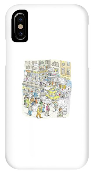 Repeat iPhone Case - 'stockopolis' by Roz Chast