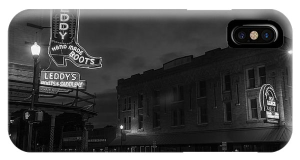Stockyards Main And Exchange Bw IPhone Case