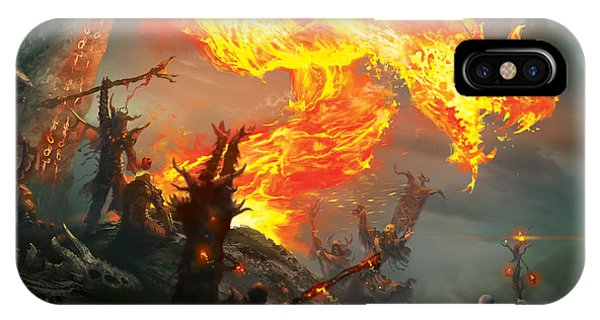 Wizard iPhone X / XS Case - Stoke The Flames by Ryan Barger