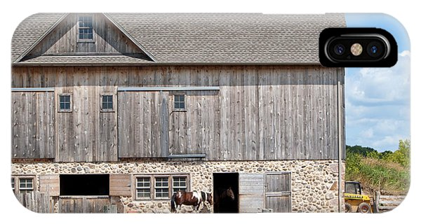 Stone And Wood Barn IPhone Case