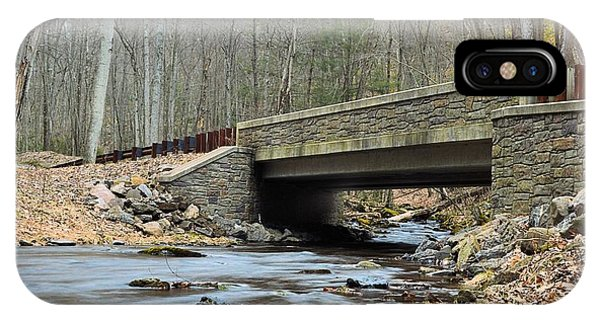 Stone Bridge At Cherry Run #1 - Bald Eagle State Forest IPhone Case