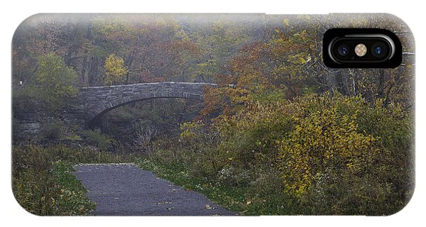 Stone Bridge In Autumn 3 IPhone Case